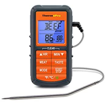 Meat Cooking Thermometer with Probe for Kitchen Cooking BBQ Grill Fry Food