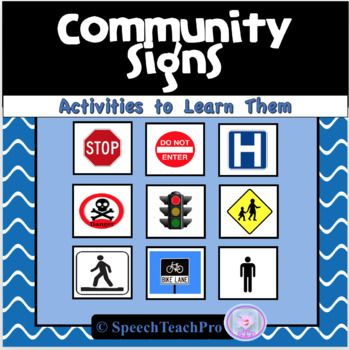 Community And Safety Signs Special Education Special Education Life Skills Special Education Teaching Special Education