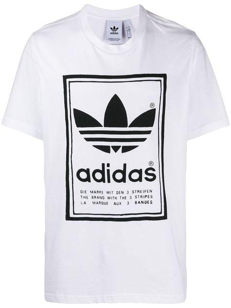 ADIDAS ORIGINALS Big Trefoil T Shirt for Men White