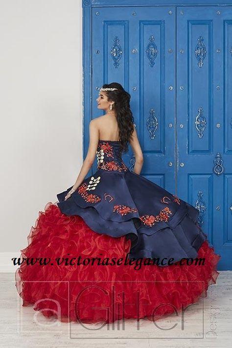 Embroidered Charro Gown House of Wu La Glitter 24037 - Victoria's Elegance Quinceañera & Bridal