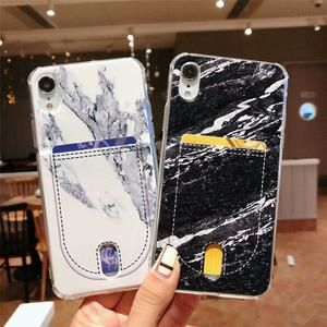 size 40 849ec 13ced Fancy Marble Card Holder Wallet Stitch Airbag Silicone Designer ...