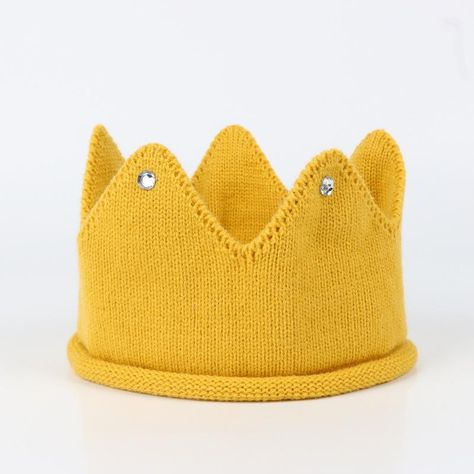 Newborn Kids Caps Baby Crown Knitted Birthday Hat Caps Photography Accessories