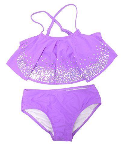 Bebone Baby Girls Lace Bowknot Strap Bikini with Hat