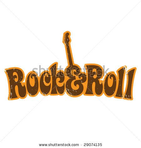 stock vector : 1970s Rock and Roll vintage T-shirt design  NEED to look through Portfolio