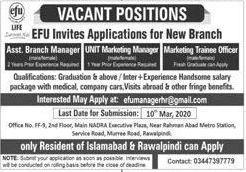Efu Life Assurance Ltd Latest Jobs February 2020 In 2020 Company Job Life Insurance Companies Medical Jobs
