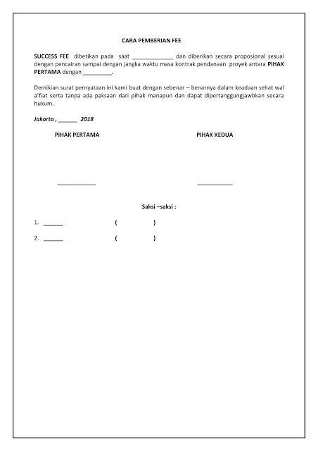 Sisurat Contoh Surat Pernyataan Komitmen Fee Komisi Imbalan 2018 Surat Tanggal Tanda