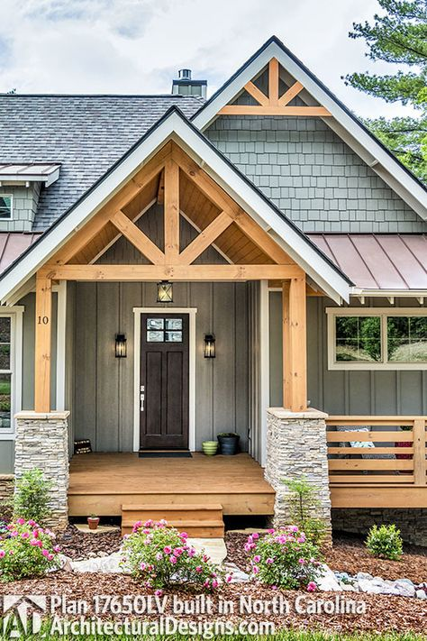 What Do Metal Buildings Cost and Pics of Metal Building Turned House. Cottage Style Decor, Rustic Cottage, Cottage House, Rustic Lake Houses, Romantic Cottage, Cottage Design, House Paint Exterior, Exterior House Colors, Craftsman Exterior Colors