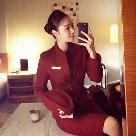 """좋아요 693개, 댓글 5개 - Instagram의  AFA since May 2016(@asianflightattendants)님: """"Follow ✈️ @asianflightattendant at Shanghai airline …"""""""