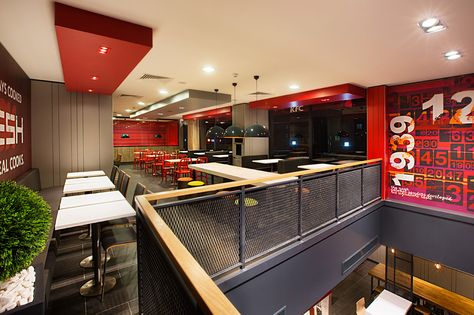 In their project developed for KFC Turkey, CBTE Architecture move away from fast food restaurant concept and reveals modern interior spaces by reflecting its own identity.