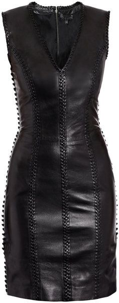 I love leather. Amazing LBD from Alexander McQueen