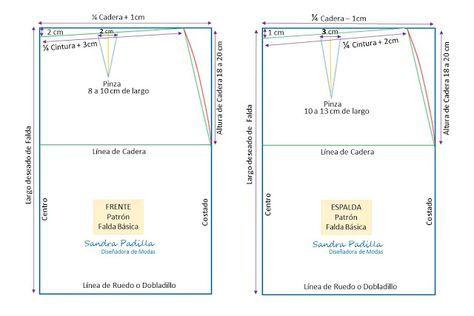 c531ab833 Aprende con SANDRA PADILLA : Patrón Básico de FALDA Más | SEWING ...