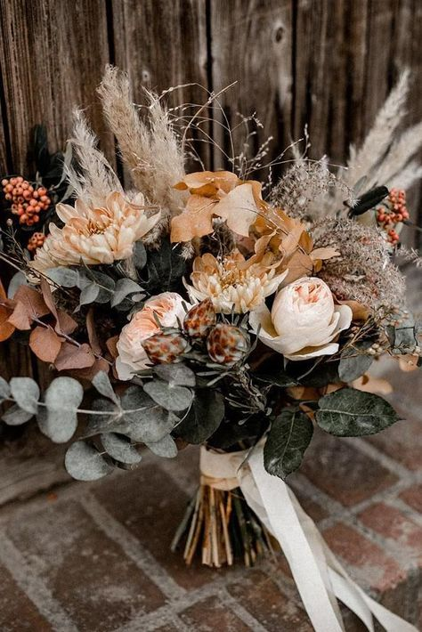 Sunset Dusty Orange Wedding Color Ideas For Fall 2020 # Bohoweddingcenterpieces . Sunset Dusty Orange Wedding Color Ideas For Fall 2020 Dusty Orange Boho Wedding Bouquets … # Fall Wedding Bouquets, Fall Wedding Flowers, Wedding Centerpieces, Floral Wedding, Wedding Bride, Burgundy Wedding, Wedding Ideas, Bohemian Wedding Flowers, Rustic Bohemian Wedding