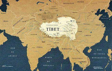 Tibet Mapa Politico Goruntuler Ile