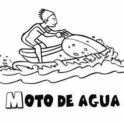 Dibujo Para Colorear De Una Moto De Agua Moto De Agua Agua Para Colorear Motos