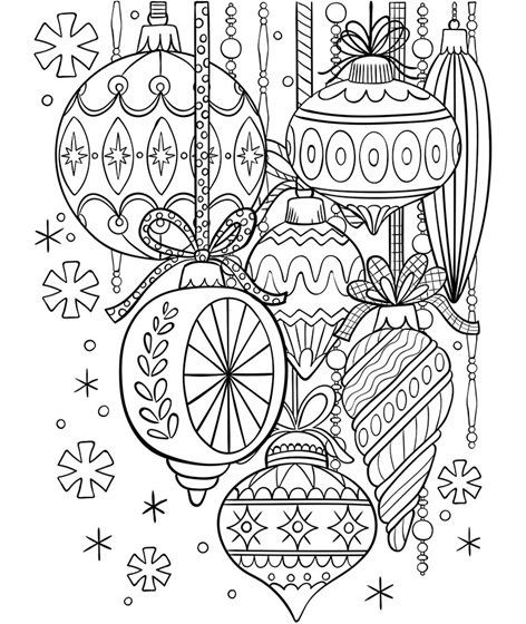 Classic Glass Ornaments Coloring Page Crayola Com Crayola