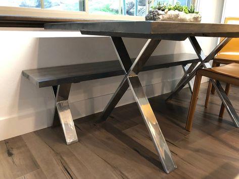 Metall Esstisch Beine 2er Set X Form Moderne Edelstahl