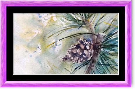 Dessin Et Peinture Video 2603 Comment Peindre Une Pomme De Pin