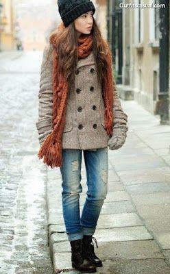 Como Vestir En Invierno Moda Otoño Moda Y Moda Otoño