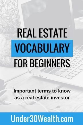 Real Estate Terminology And Vocabulary For Beginners Learn The