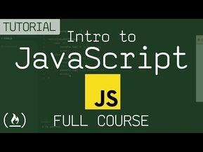 46) Intro to Javascript - FULL COURSE - YouTube   Java