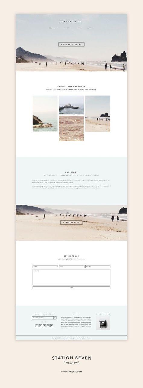 Coastal - Station Seven | Web layout design, Website design inspiration, Web design