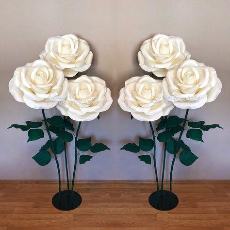 Large Foam Flowers Foam Flowers Paper Flowers With Stems