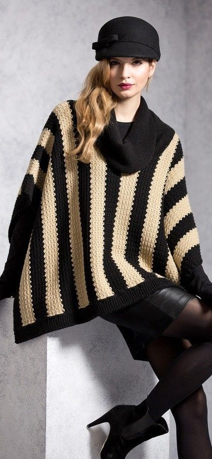 I wish I knew how to knit a poncho - i would be totally mod and chic - http://www.boomerinas.com/2014/12/11/soft-cozy-warm-winter-sweaters-knitwear-for-women-over-40-or-50-or-60/