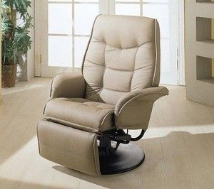 Magnificent Tan Bone Leatherette Recliner Captains Chair Seat Swivel Rv Gmtry Best Dining Table And Chair Ideas Images Gmtryco