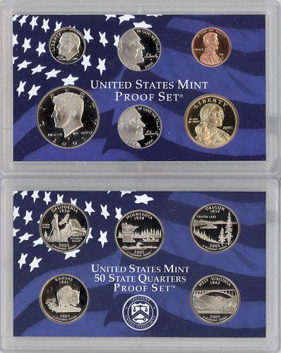 MINT CLAD PROOF SET COMPLETE 10 COIN SET STATE QUARTERS /& SACAGAWEA 2000 U.S
