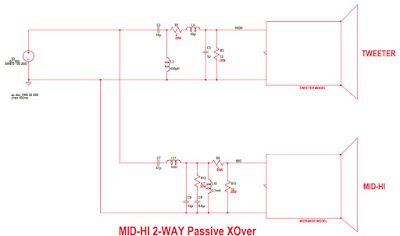 2Way Pive Crossover Mid - Hi | Amplifier in 2019 ... Active Crossover Wiring Diagram on