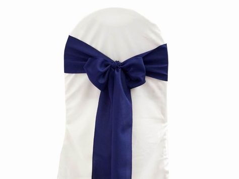 5 Pcs Navy Blue Polyester Chair Sashes Chair Sashes Chair