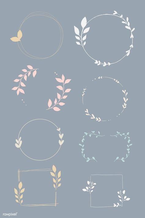 Download the premium vector doodle floral wreath vector collection 843848#collection #doodle #download #floral #premium #vector #wreath