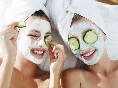 Gesichtsmaske mit Quark gegen Pickel selber machen
