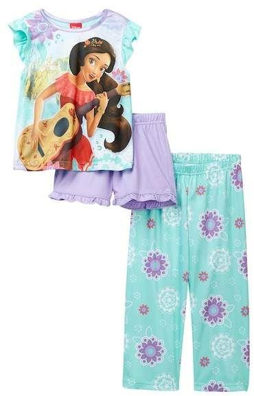 Disney Girls Toddler Elena 3-Piece Pajama Set