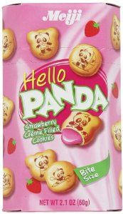 Meiji Hello Panda Strawberry, 2.1-Ounce Boxes (Pack of 20)