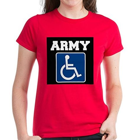 33fa650fad CafePress Army Handicapped Disabled T-Shirt - Womens Cotton T-Shirt ...