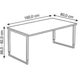Kerkmann Yukon Hohenverstellbarer Schreibtisch Weiss Rechteckig