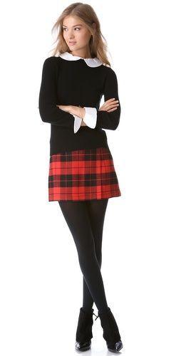 The evolution of plaid skirts alice + olivia weston plaid skirt