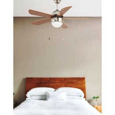 Ventilateur Plafond Avec Lampe Diam 106 Cm Nickel Mat 5 Pales Veneto Faro Ventilateur Plafond Ventilateur Plafond