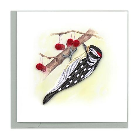 Bike and Flowers Quilling Card - Fair Trade Winds