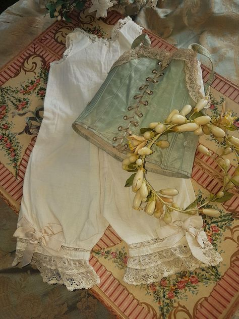 ~~~ Pretty Jumeau Lingerie Corset and Body Suit ~~~ from whendreamscometrue on Ruby Lane