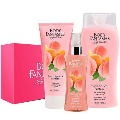 Ad Body Fantasies Peach Apricot Fantasy 3pcs Gift Set Body Spray