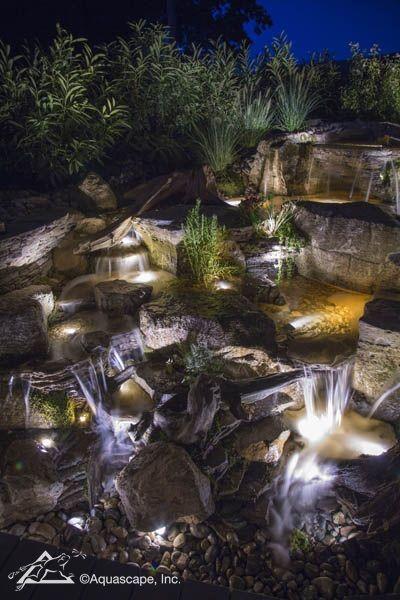 Pond Lighting Garden Create Magic At Night Ponds