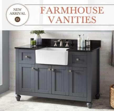 Trendy Farmhouse Sink Vanity Bathroom Cabinets Ideas Farmhouse