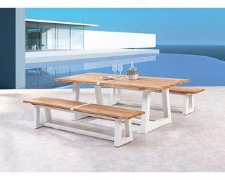 Gartentisch Campione 220 X 100 Cm Weiss Teakholz Kaufen Bei Obi Teak Holz Teakholz Gartenmobel