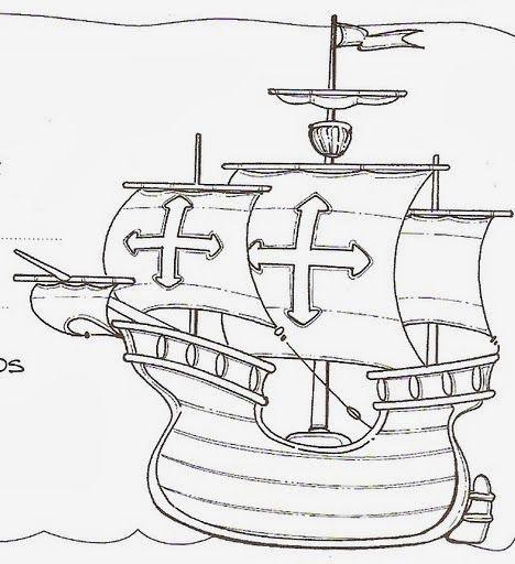 Barcos Para Colorear De Cristobal Colon Las Carabelas De Colon Dia De La Hispanidad Barcos De Cristobal Colon