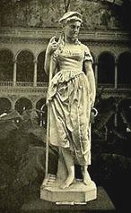 Maud Muller--this may be the Maud Muller statue exhibited at the 1874 Universal Exposition and in the Rotunda, in the Women's Building, 1893 Exposition. By Artist Blanche Nevin -