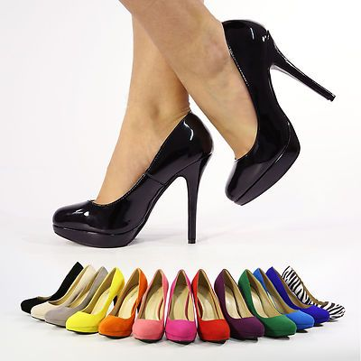 28b05d2066350 Details about NEW LADIES WOMENS STILETTO HIGH HEEL COURT SHOES SIZE ...