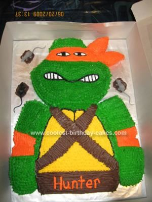 Teenage Mutant Ninja Turtles cupcake cake cute Pinterest Ninja