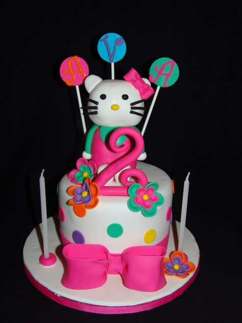 Hello Kitty 2nd Birthday Cake Happy Ava
